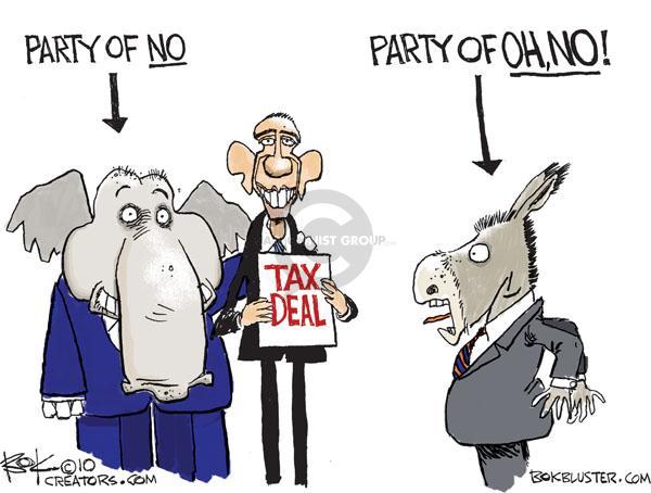Cartoonist Chip Bok  Chip Bok's Editorial Cartoons 2010-12-07 democrat