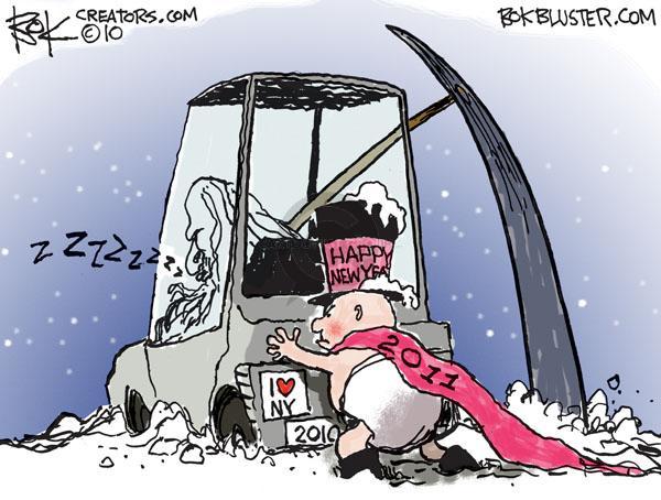 Cartoonist Chip Bok  Chip Bok's Editorial Cartoons 2010-12-30 heart