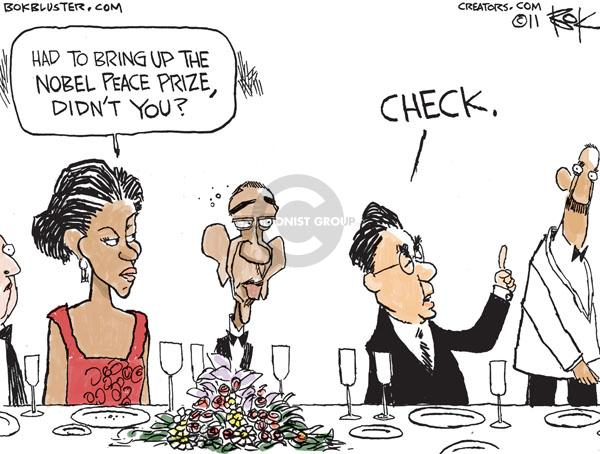 Cartoonist Chip Bok  Chip Bok's Editorial Cartoons 2011-01-19 peace