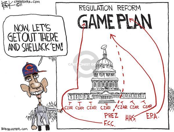 Chip Bok  Chip Bok's Editorial Cartoons 2011-01-24 coach