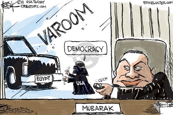 Cartoonist Chip Bok  Chip Bok's Editorial Cartoons 2011-02-07 international relations