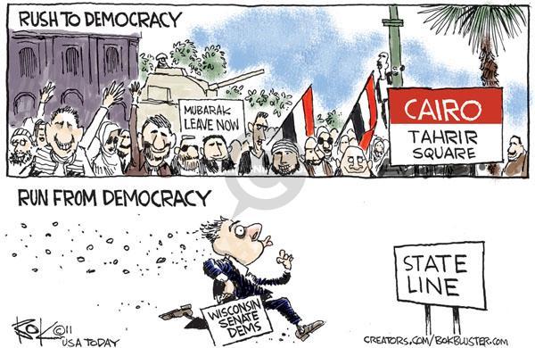 Cartoonist Chip Bok  Chip Bok's Editorial Cartoons 2011-02-21 democrat
