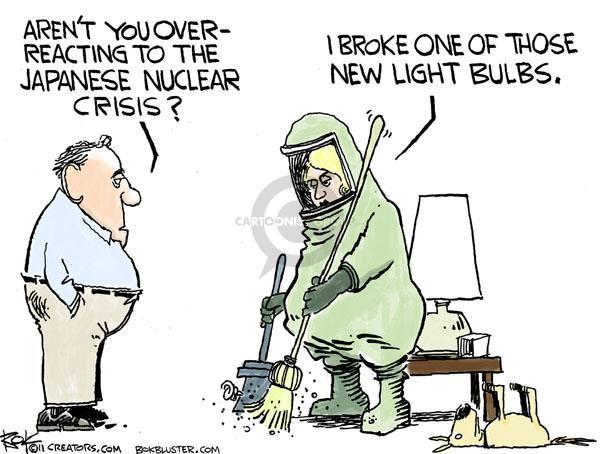 Cartoonist Chip Bok  Chip Bok's Editorial Cartoons 2011-03-23 nuclear energy