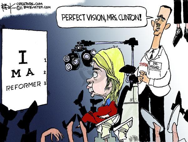 Cartoonist Chip Bok  Chip Bok's Editorial Cartoons 2011-03-31 international relations