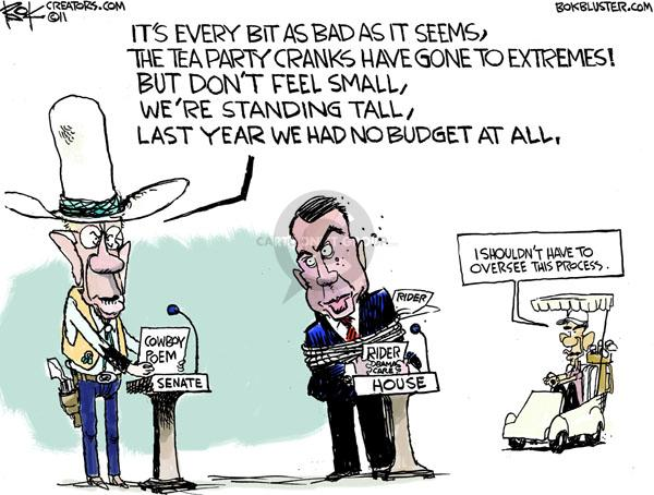Chip Bok  Chip Bok's Editorial Cartoons 2011-04-06 federal budget