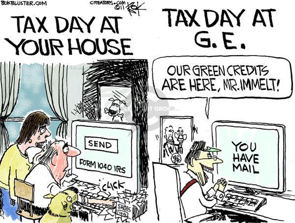 Cartoonist Chip Bok  Chip Bok's Editorial Cartoons 2011-04-15 1040
