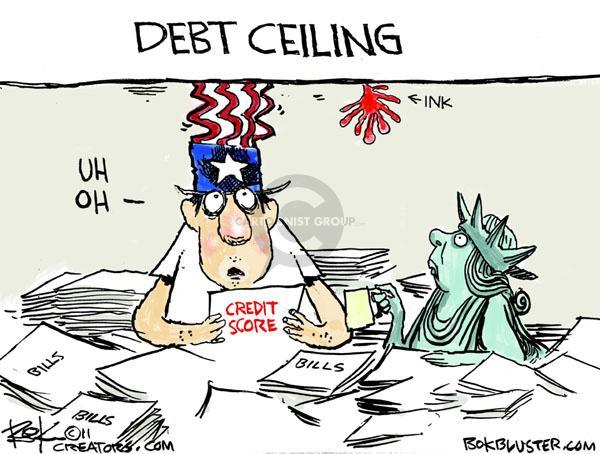 Chip Bok  Chip Bok's Editorial Cartoons 2011-04-18 federal budget