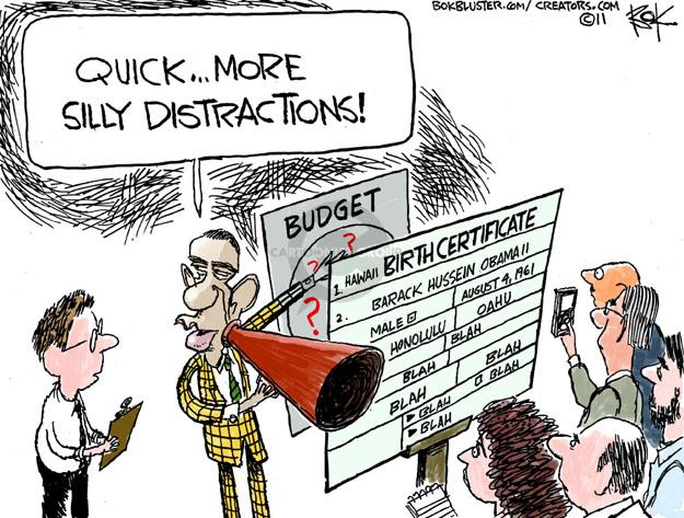 Chip Bok  Chip Bok's Editorial Cartoons 2011-04-27 distraction