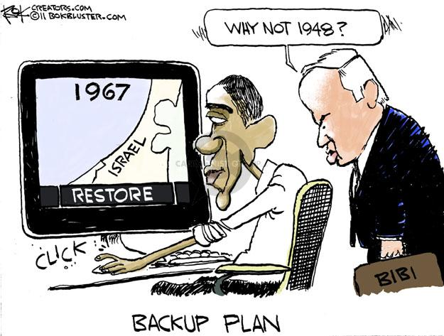 Cartoonist Chip Bok  Chip Bok's Editorial Cartoons 2011-05-27 Benjamin Netanyahu