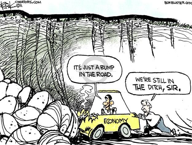 Cartoonist Chip Bok  Chip Bok's Editorial Cartoons 2011-06-10 Obama economy
