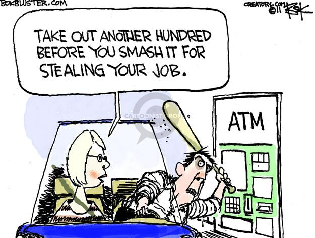 Cartoonist Chip Bok  Chip Bok's Editorial Cartoons 2011-06-20 employment