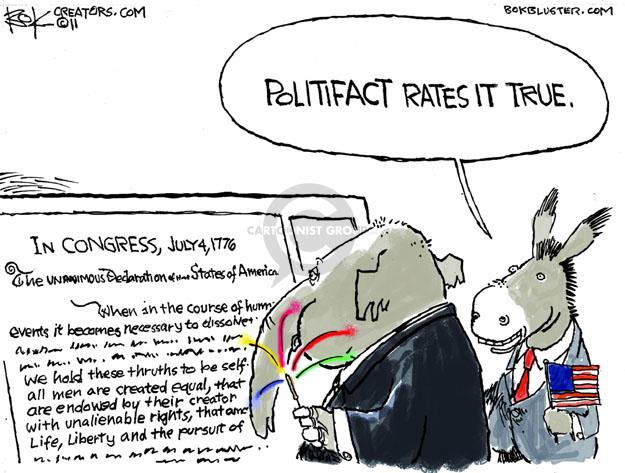 Cartoonist Chip Bok  Chip Bok's Editorial Cartoons 2011-07-01 politics