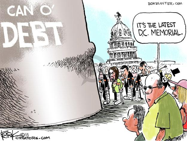 Chip Bok  Chip Bok's Editorial Cartoons 2011-07-27 federal budget