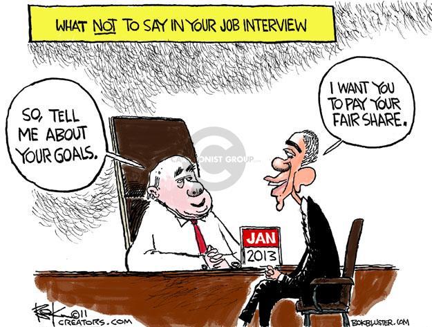 Chip Bok  Chip Bok's Editorial Cartoons 2011-07-29 interviewer