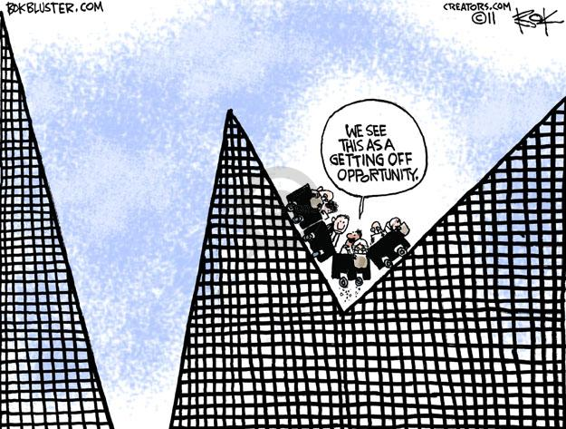 Chip Bok  Chip Bok's Editorial Cartoons 2011-08-15 Financial Market