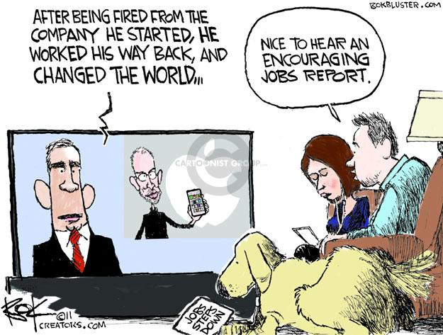 Cartoonist Chip Bok  Chip Bok's Editorial Cartoons 2011-08-25 apple