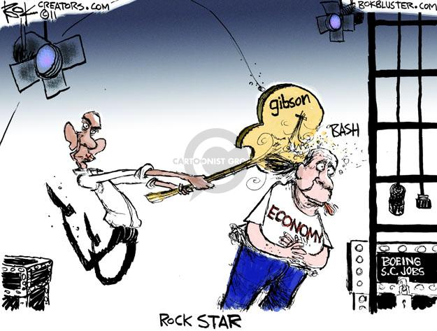 Rock Star. Gibson. Economy. Bash. Boeing S.C. Jobs.