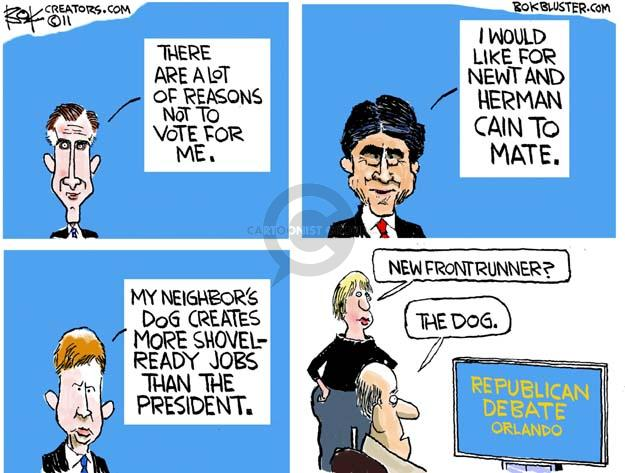 Cartoonist Chip Bok  Chip Bok's Editorial Cartoons 2011-09-23 presidential candidate