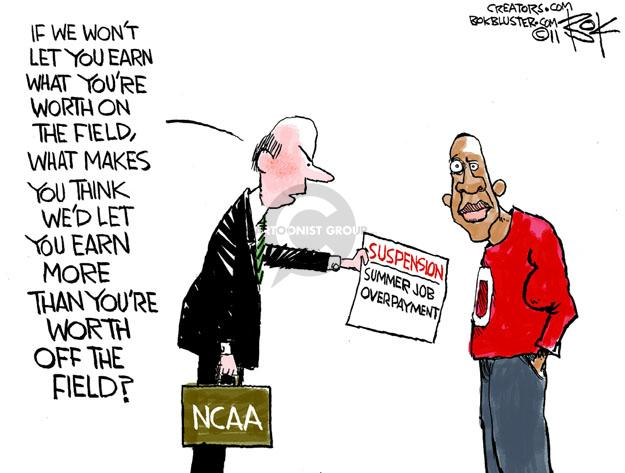 Cartoonist Chip Bok  Chip Bok's Editorial Cartoons 2011-10-11 college sports