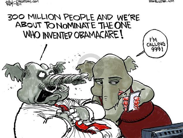 Cartoonist Chip Bok  Chip Bok's Editorial Cartoons 2011-10-14 heart attack