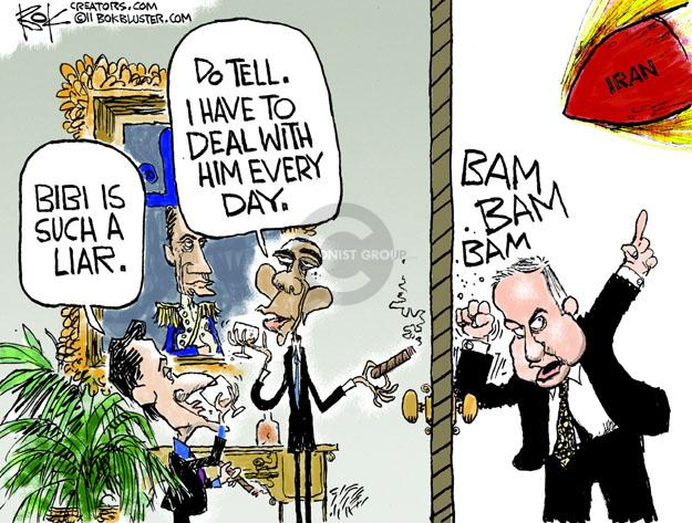 Cartoonist Chip Bok  Chip Bok's Editorial Cartoons 2011-11-08 Benjamin Netanyahu