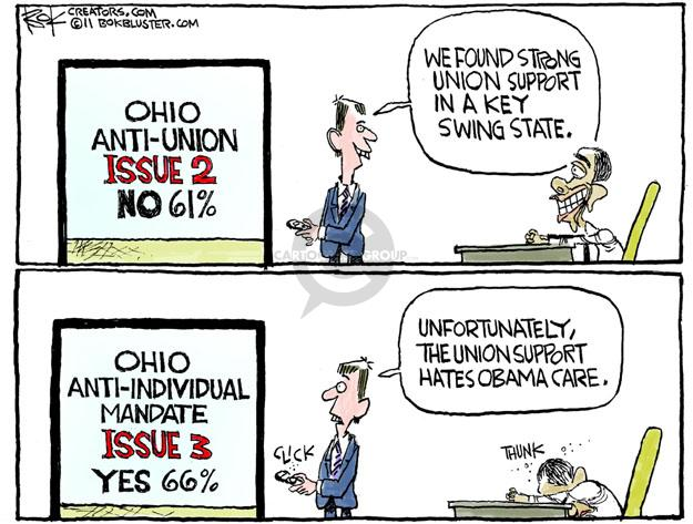 Cartoonist Chip Bok  Chip Bok's Editorial Cartoons 2011-11-10 support