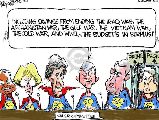 Cartoonist Chip Bok  Chip Bok's Editorial Cartoons 2011-11-14 deficit