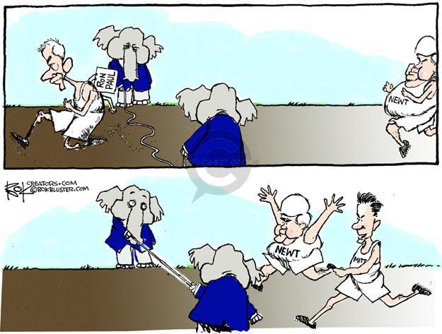 Chip Bok  Chip Bok's Editorial Cartoons 2011-12-12 2012 election