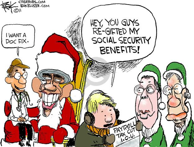 Cartoonist Chip Bok  Chip Bok's Editorial Cartoons 2011-12-21 tax cut