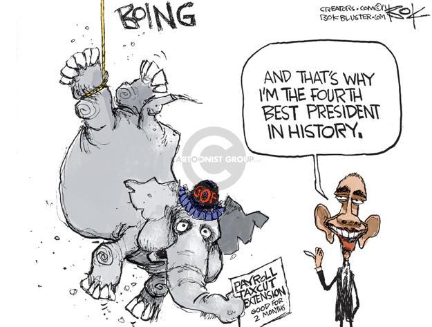 Chip Bok  Chip Bok's Editorial Cartoons 2011-12-27 circus