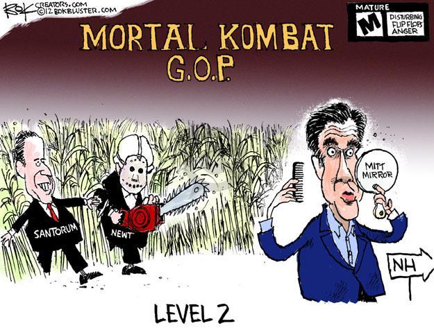 Cartoonist Chip Bok  Chip Bok's Editorial Cartoons 2012-01-06 scary