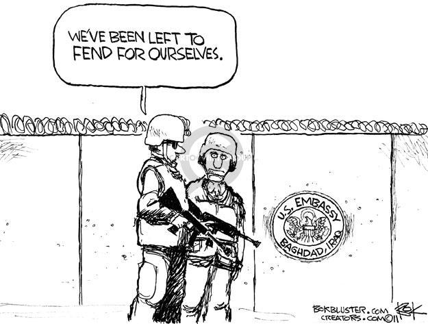 Cartoonist Chip Bok  Chip Bok's Editorial Cartoons 2012-01-07 Iraq war
