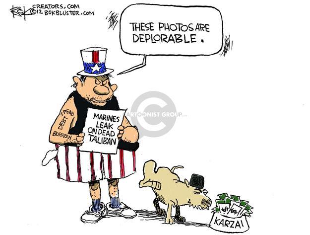 Cartoonist Chip Bok  Chip Bok's Editorial Cartoons 2012-01-13 photograph