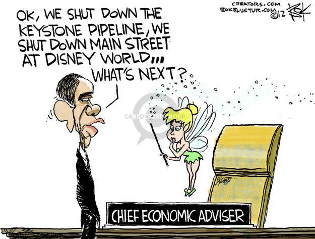 Cartoonist Chip Bok  Chip Bok's Editorial Cartoons 2012-01-22 Obama economy