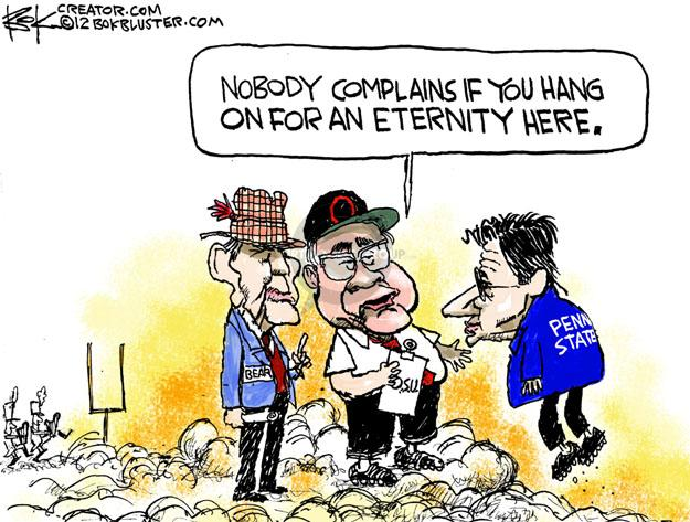 Cartoonist Chip Bok  Chip Bok's Editorial Cartoons 2012-01-23 college sports