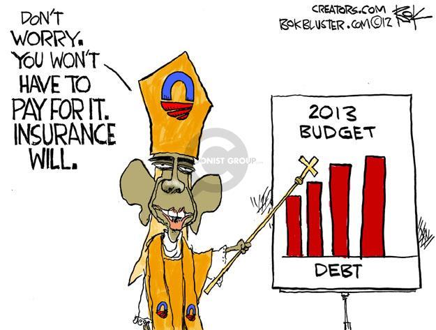 Chip Bok  Chip Bok's Editorial Cartoons 2012-02-13 federal budget