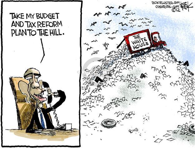 Cartoonist Chip Bok  Chip Bok's Editorial Cartoons 2012-02-23 truck