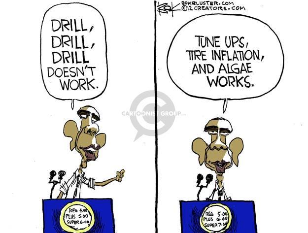 Cartoonist Chip Bok  Chip Bok's Editorial Cartoons 2012-02-28 oil drilling