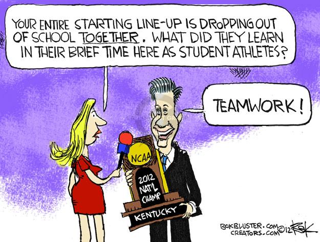 Cartoonist Chip Bok  Chip Bok's Editorial Cartoons 2012-04-19 college sports
