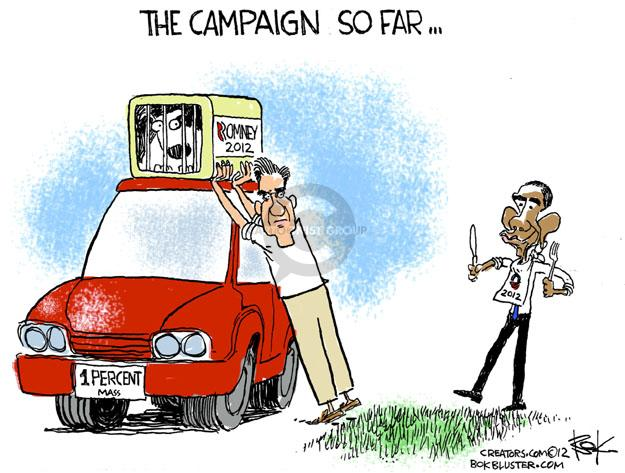 Cartoonist Chip Bok  Chip Bok's Editorial Cartoons 2012-04-20 Obama Romney