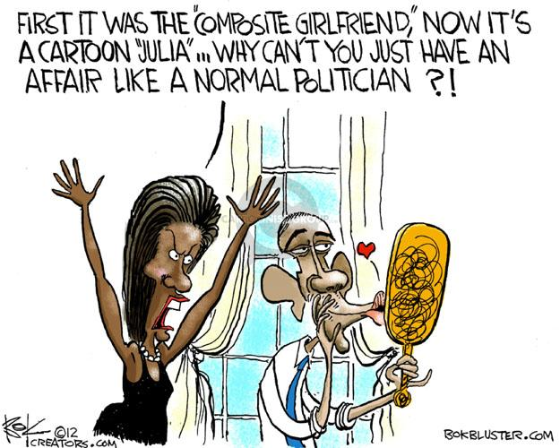 Chip Bok  Chip Bok's Editorial Cartoons 2012-05-07 first lady