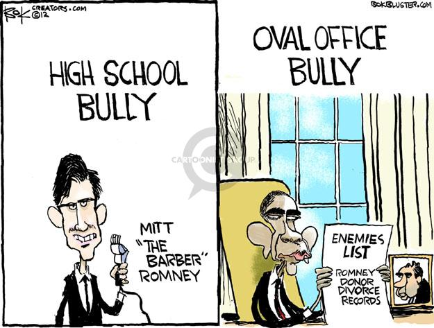 Cartoonist Chip Bok  Chip Bok's Editorial Cartoons 2012-05-14 Obama Romney