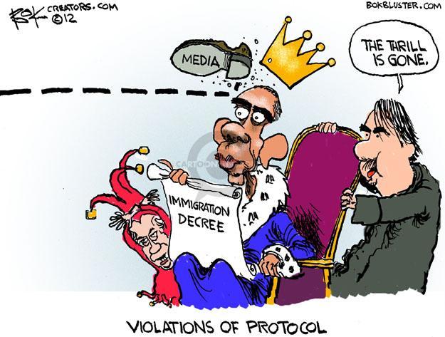 Cartoonist Chip Bok  Chip Bok's Editorial Cartoons 2012-06-18 Barack Obama