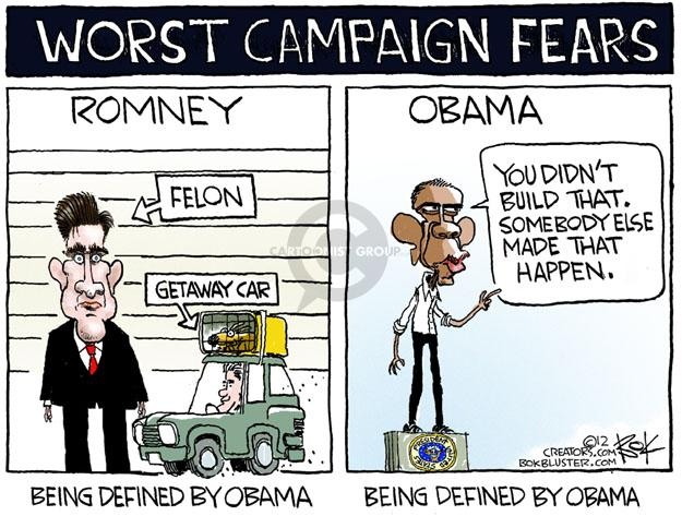Cartoonist Chip Bok  Chip Bok's Editorial Cartoons 2012-07-18 Obama Romney