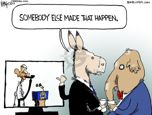 Cartoonist Chip Bok  Chip Bok's Editorial Cartoons 2012-07-19 democrat