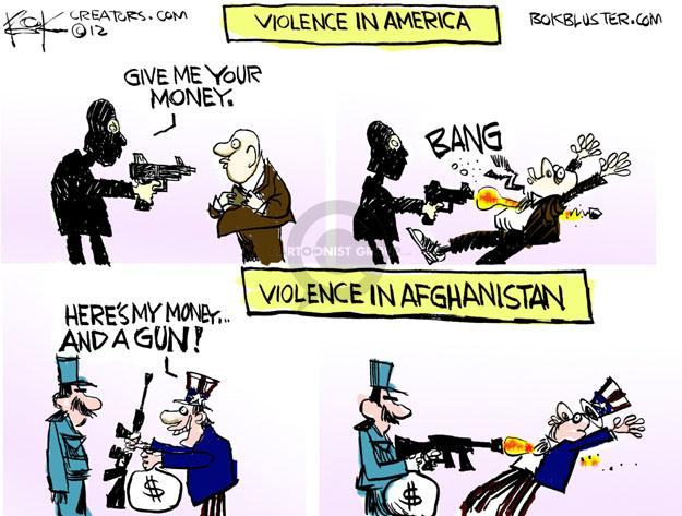 Cartoonist Chip Bok  Chip Bok's Editorial Cartoons 2012-08-20 gun violence