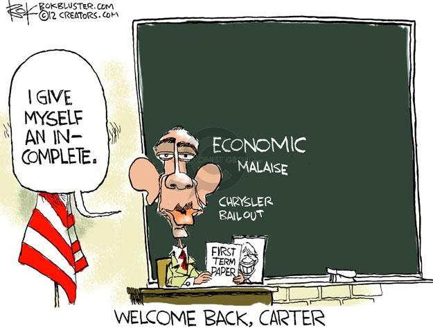 Cartoonist Chip Bok  Chip Bok's Editorial Cartoons 2012-09-09 former president