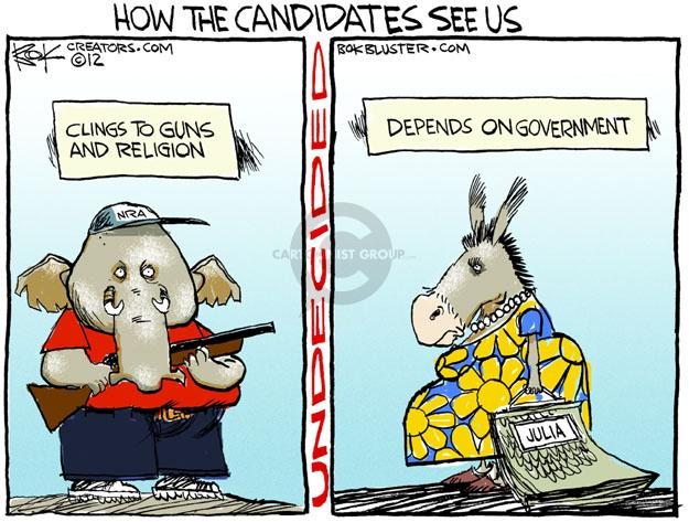 Cartoonist Chip Bok  Chip Bok's Editorial Cartoons 2012-09-18 political lobby