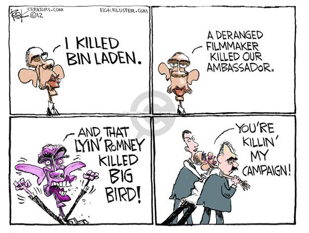 Cartoonist Chip Bok  Chip Bok's Editorial Cartoons 2012-10-11 Obama Romney