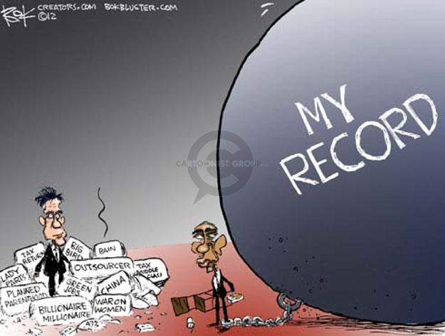 Cartoonist Chip Bok  Chip Bok's Editorial Cartoons 2012-10-17 Obama Romney